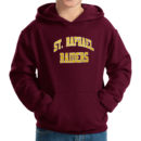 hoodie-youth-maroon_Raphael-Arc-(White-&-Gold)