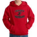 hoodie-youth-red_Fairview-Spear-(Black-&-White)